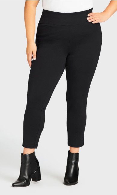 Ponte Pull-On Pant Black - petite