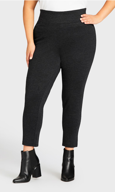 Ponte Pull-On Pant Charcoal - petite