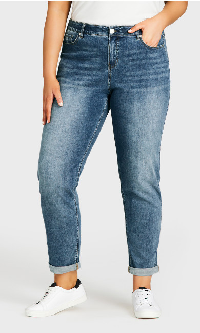 Girlfriend Jean Light Wash - tall