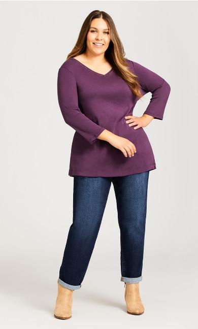 Plus Size Girlfriend Jean Dark Wash - average