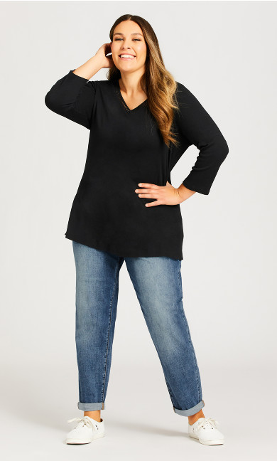 Plus Size Girlfriend Jean Light Wash - average