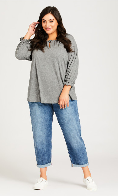 Plus Size Girlfriend Jean Light Wash - petite