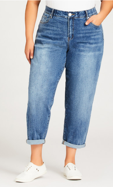 Girlfriend Jean Light Wash - petite