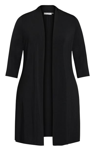 Aria Longline Jacket - black