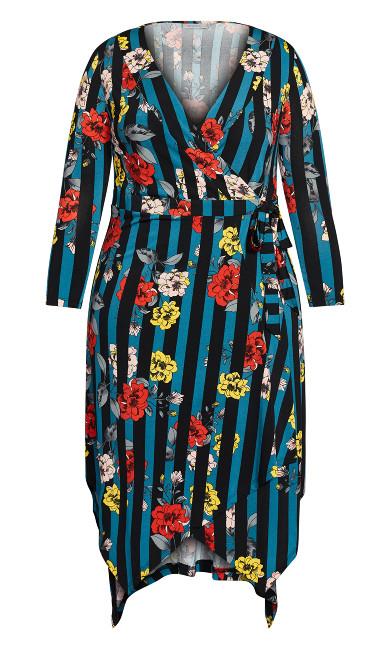 Vine Lane Dress - teal