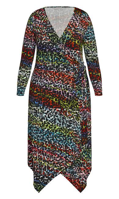 Vine Lane Dress - multi jigsaw