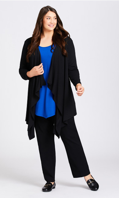 Plus Size Shadow Grove Cardi - black