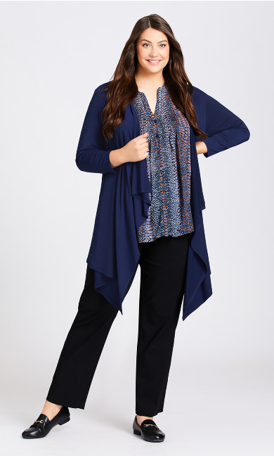 Plus Size Shadow Grove Cardi - navy