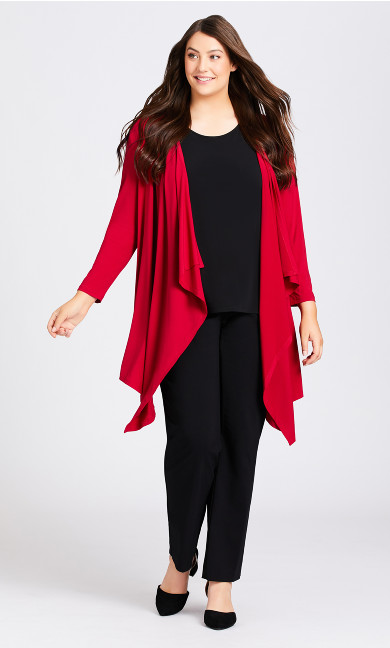 Plus Size Shadow Grove Cardi - ruby