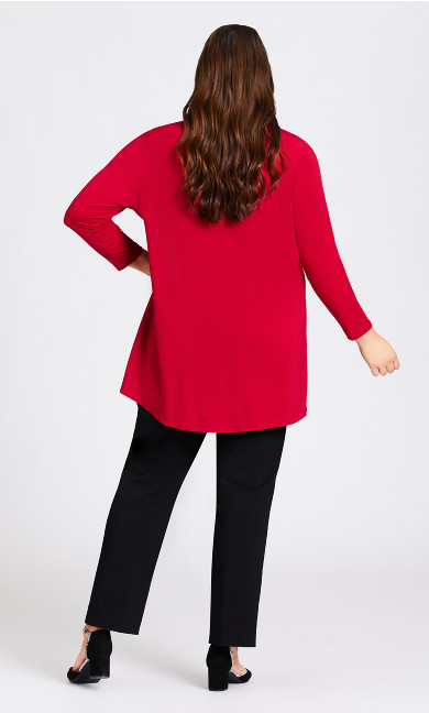 Shadow Grove Cardigan - ruby
