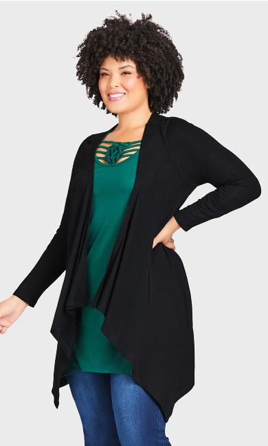 Plus Size Eaton Cardi - black