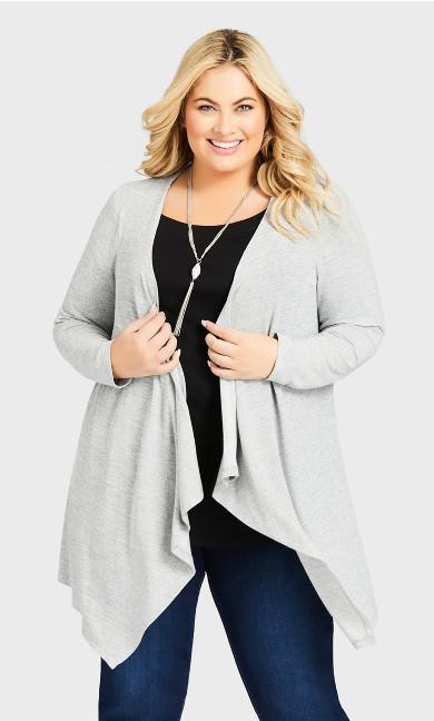 Plus Size Eaton Cardi - gray