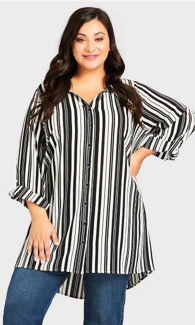 Aspen Shirt - mono stripe