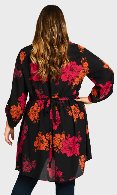 Harley Mews Tunic - black floral
