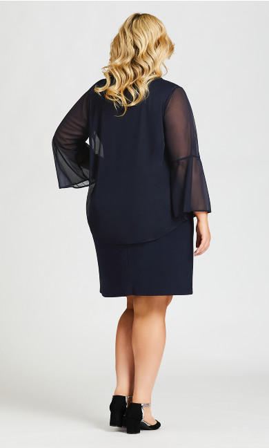 Glam Duet Dress - navy