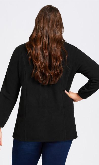 Polar Fleece Zip Jacket - black