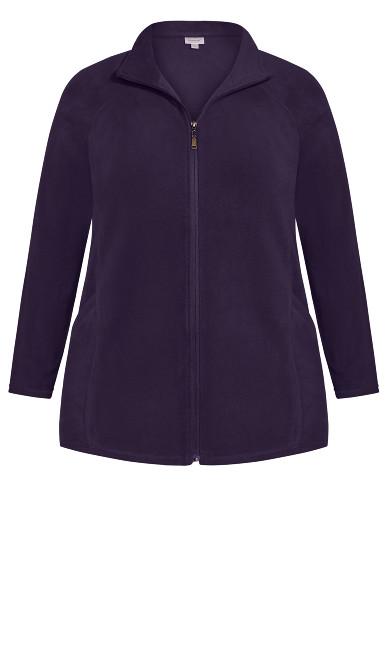 Polar Fleece Zip Jacket - plum
