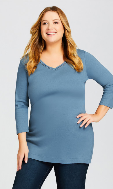 Plus Size Wessex Essential Tee Blue Velvet - average