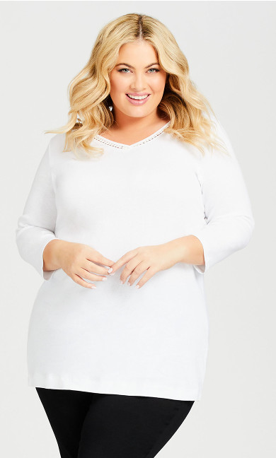 Plus Size Wessex Essential Tee White - average