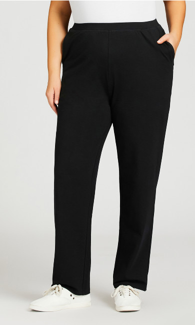 Straight Leg Pull-On Pant Black - average