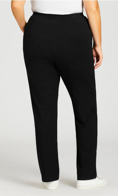 Straight Leg Pull-On Pant Black - average