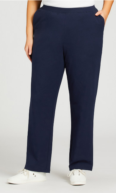 Straight Leg Pull-On Pant Navy - average
