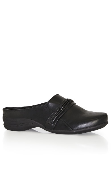 Plus Size Closed Toe Clog - black