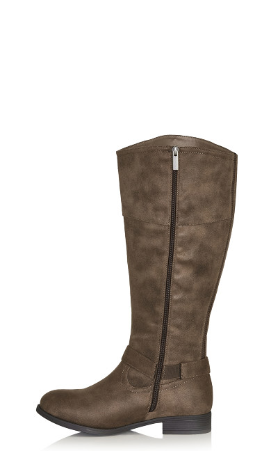 Tall Riding Boot - taupe