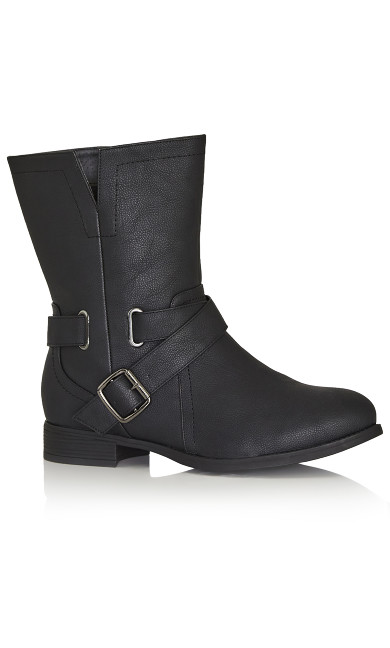 Plus Size Mid Boot - black