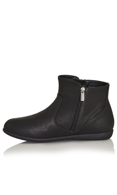 Outside Zip Bootie - black