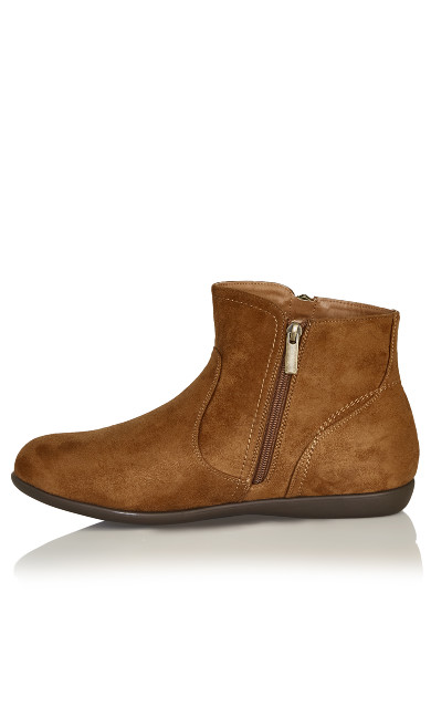 Outside Zip Bootie - brown