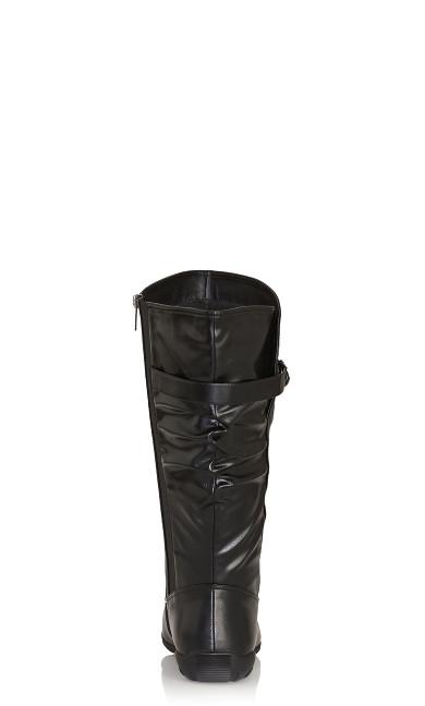 Scrunch Tall Boot - black