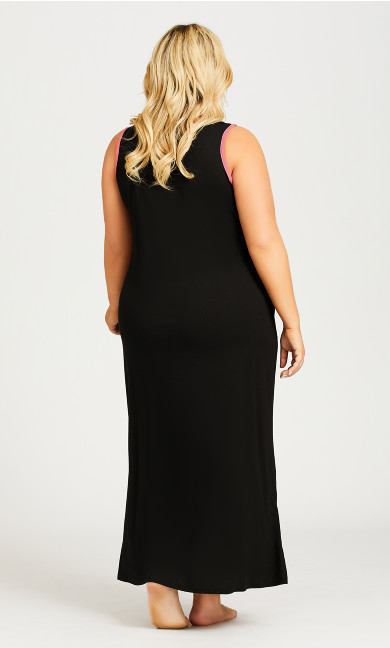 Cold Days Maxi Sleep Dress - black