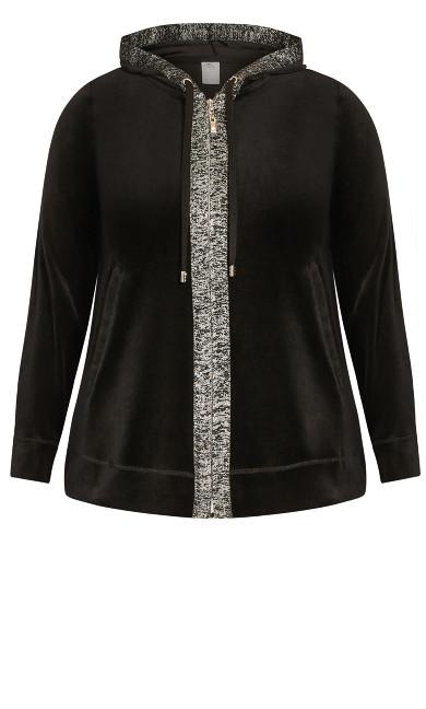 Metallic Velour Jacket - black