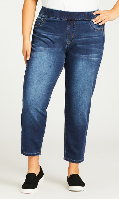 Jegging High Rise Mid Wash - petite