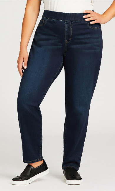 Jegging High Rise Dark Wash - average
