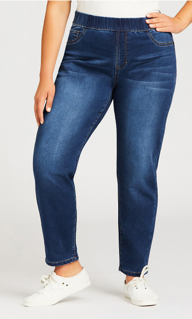 Jegging High Rise Mid Wash - average