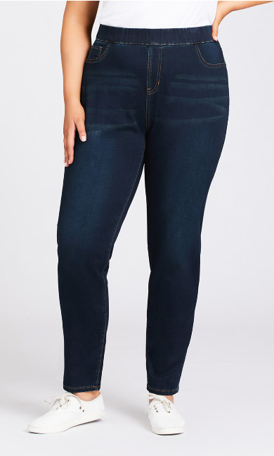 Jegging High Rise Dark Wash - tall