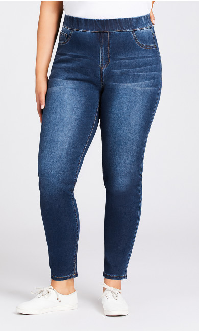 Jegging High Rise Mid Wash - tall