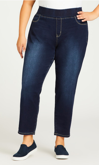 Butter Denim Pull On Jean Dark Wash - petite