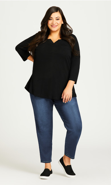 Plus Size Butter Denim Pull On Jean Mid Wash - petite