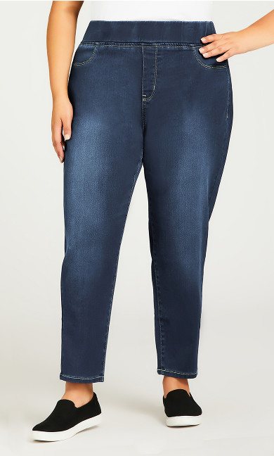 Butter Denim Pull On Jean Mid Wash - petite
