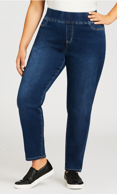 Butter Denim Pull On Jean Mid Wash - average