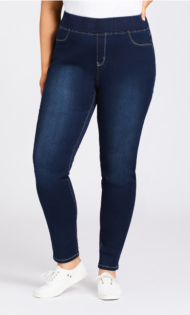 Butter Denim Pull On Jean Dark Wash - tall
