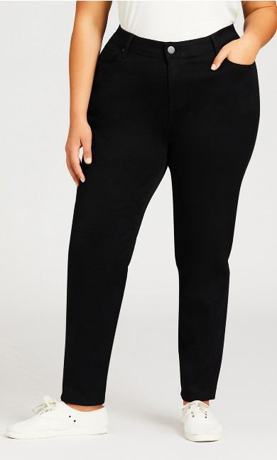 Butter Denim Skinny Jean Black - average