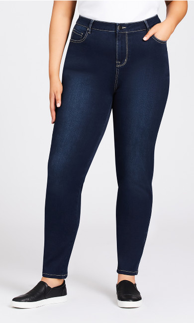 Butter Denim Skinny Jean Dark Wash - tall