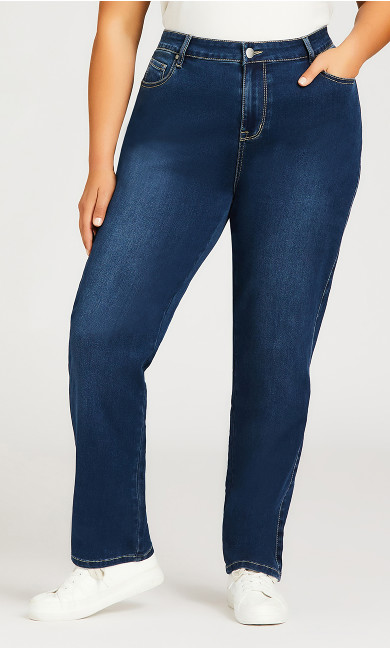 Butter Denim Straight Leg Jean Mid Wash - average