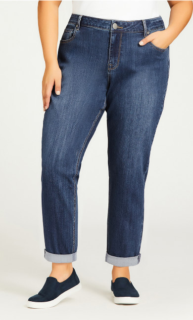 Girlfriend Stretch Jean Mid Wash - petite