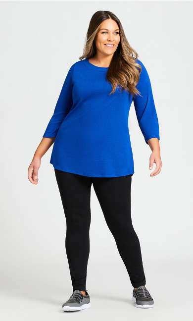 Plus Size Legging Pima High Rise Black - average