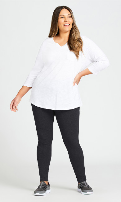 Plus Size Legging Pima High Rise Charcoal - average